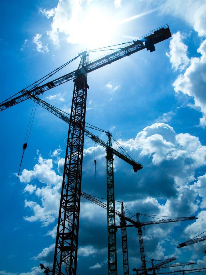 Kran-Baustelle lizenzfreies stockfoto