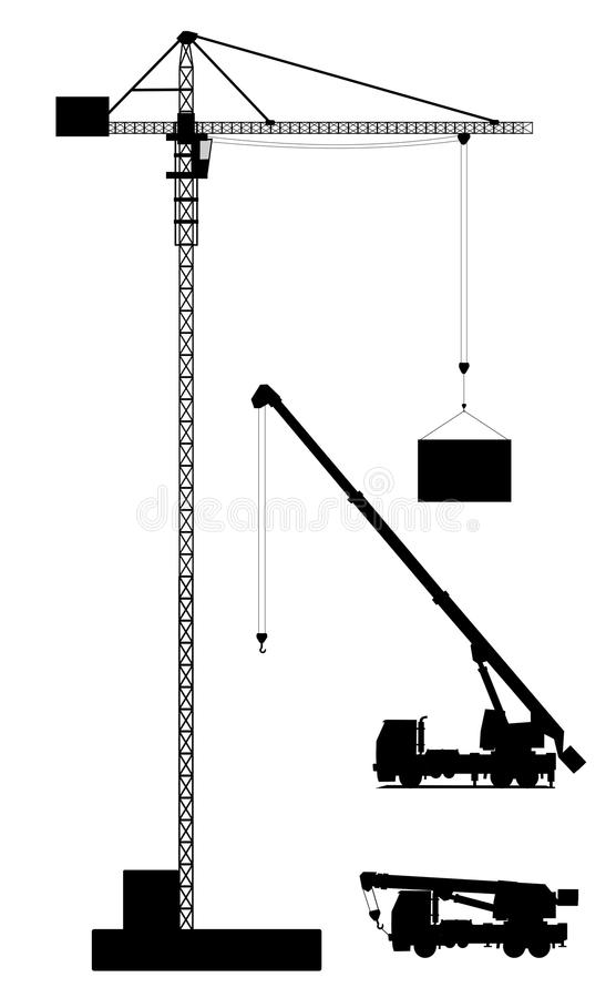 Kranen stock illustratie