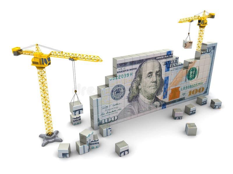 kranen en geld stock illustratie