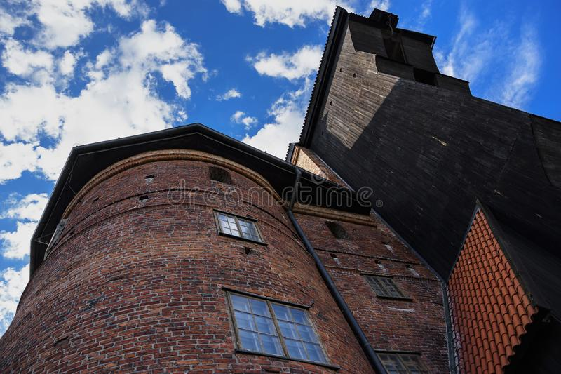 Kranen, symbol av Gdansk, Polen royaltyfri fotografi