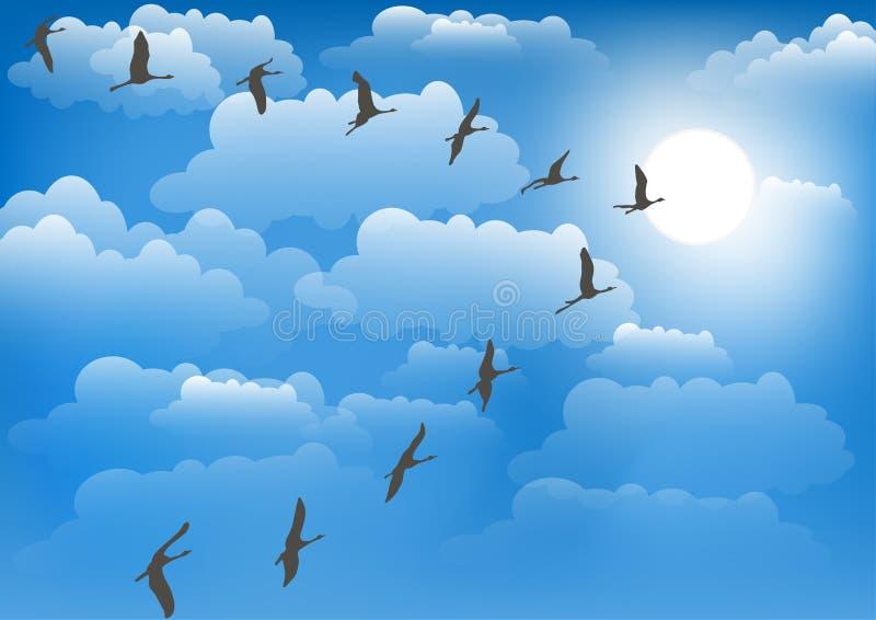 Kranen tegen de hemel Vector illustratie stock illustratie