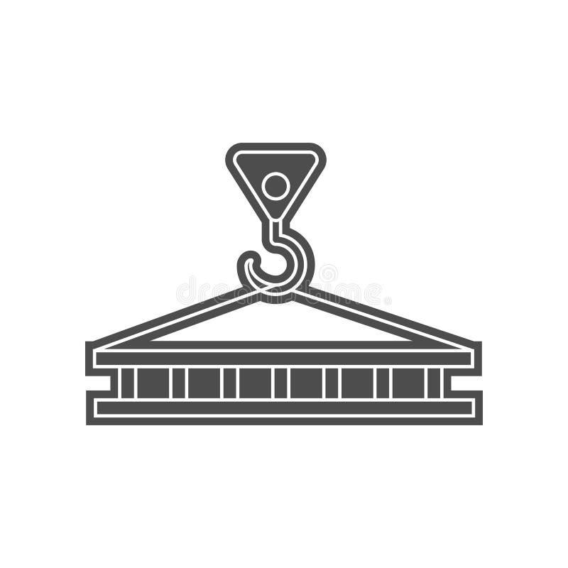 Kranhakenikone Element von minimalistic f?r bewegliches Konzept und Netz Appsikone Glyph, flache Ikone f?r Websiteentwurf und Ent vektor abbildung