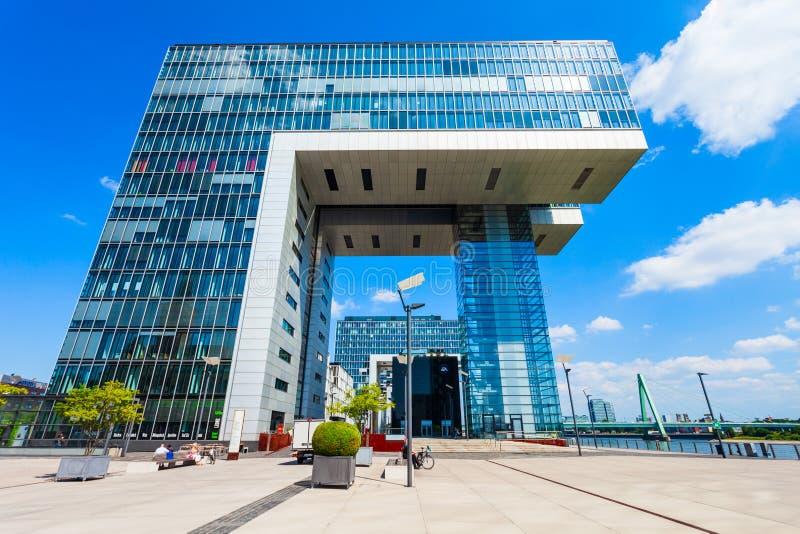 Kranhaus-Komplex in Rheinauhafen, Köln lizenzfreies stockbild