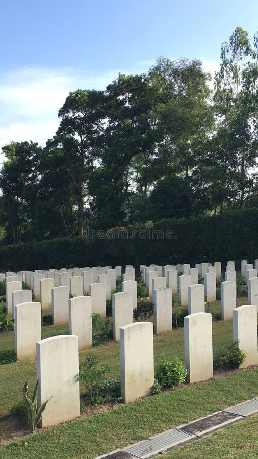 Kranji-Kriegs-Denkmalfriedhof lizenzfreies stockbild