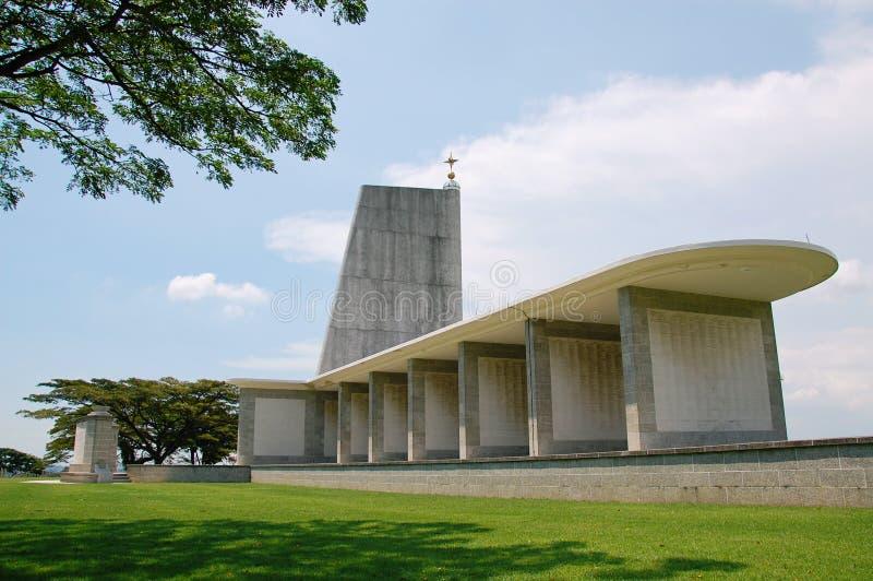 Kranji kriger minnesmärken (Singapore) arkivbilder