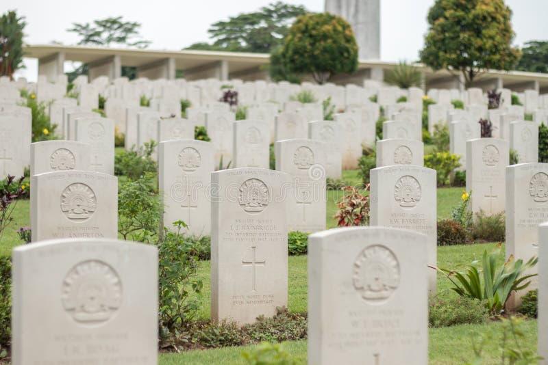 Kranji war cemetery, Singapore royalty free stock image