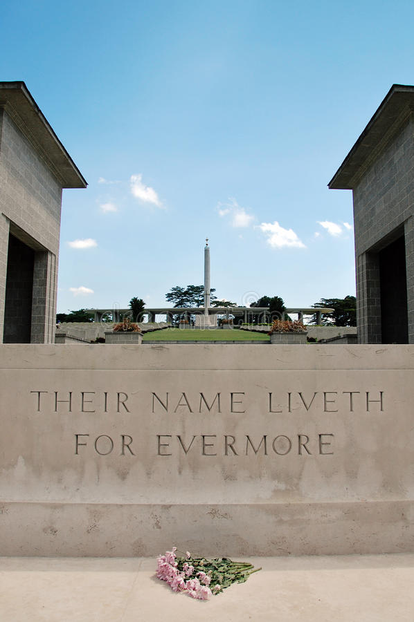 Kranji War Memorial (Singapore) royalty free stock photography
