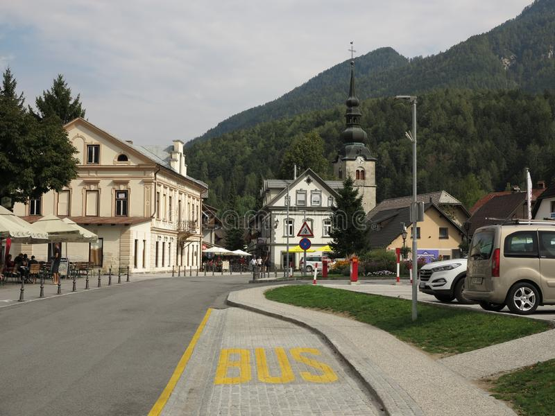 Kranjska Gora, Słowenia, wakacje letnie fotografia stock