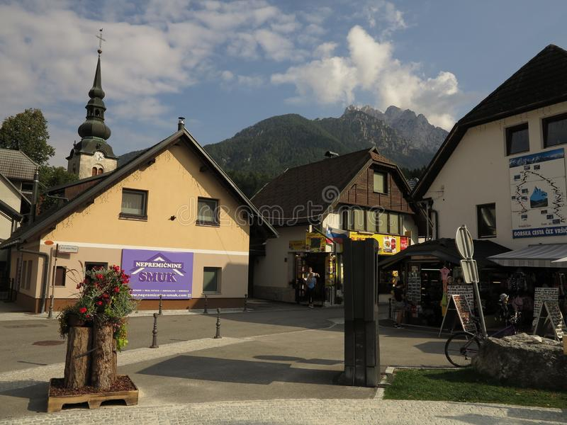 Kranjska Gora, Slovenië, zomervakantiereis royalty-vrije stock afbeelding
