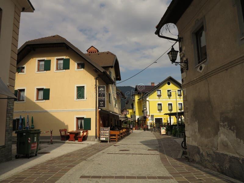 Kranjska Gora, Slovenië, zomervakantiereis stock afbeelding