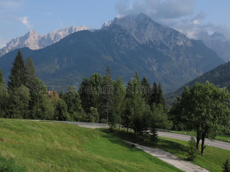 Kranjska Gora, Slovenië, zomervakantiereis royalty-vrije stock afbeeldingen