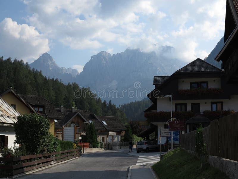 Kranjska Gora, Slovenië, zomervakantiereis royalty-vrije stock foto's