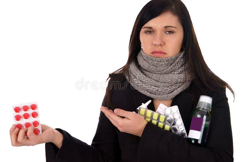 Kranke Frau lizenzfreie stockfotos