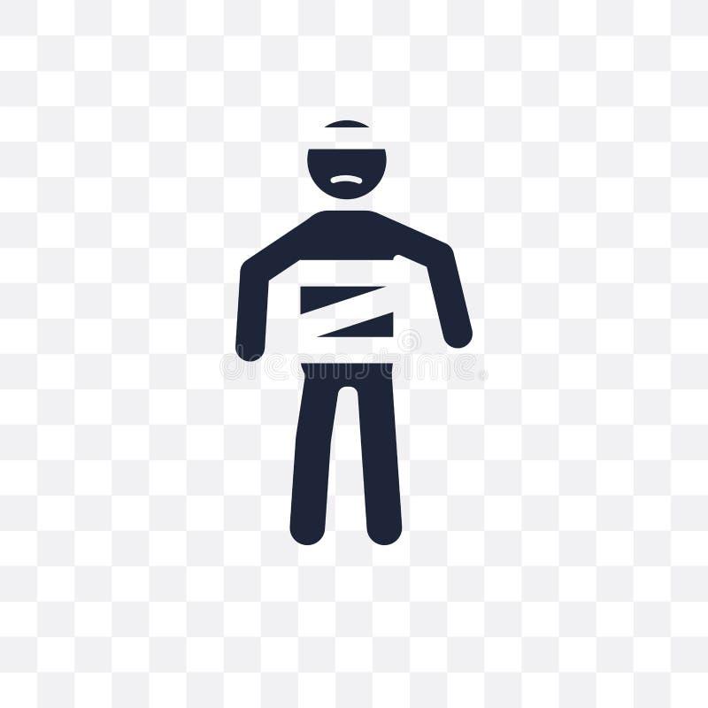 kranke menschliche transparente Ikone kranker menschlicher Symbolentwurf von Feeli lizenzfreie abbildung