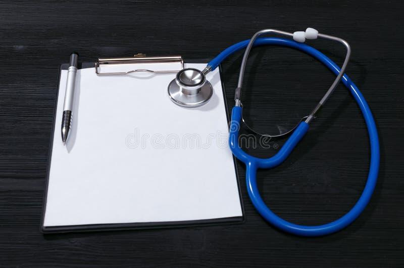 Krankengeschichtedokument stockbilder