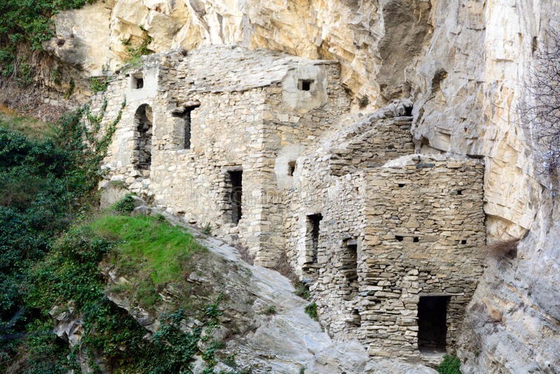 Krankenhaus für Leidende der Pest im Jahre 1630 stockfotografie