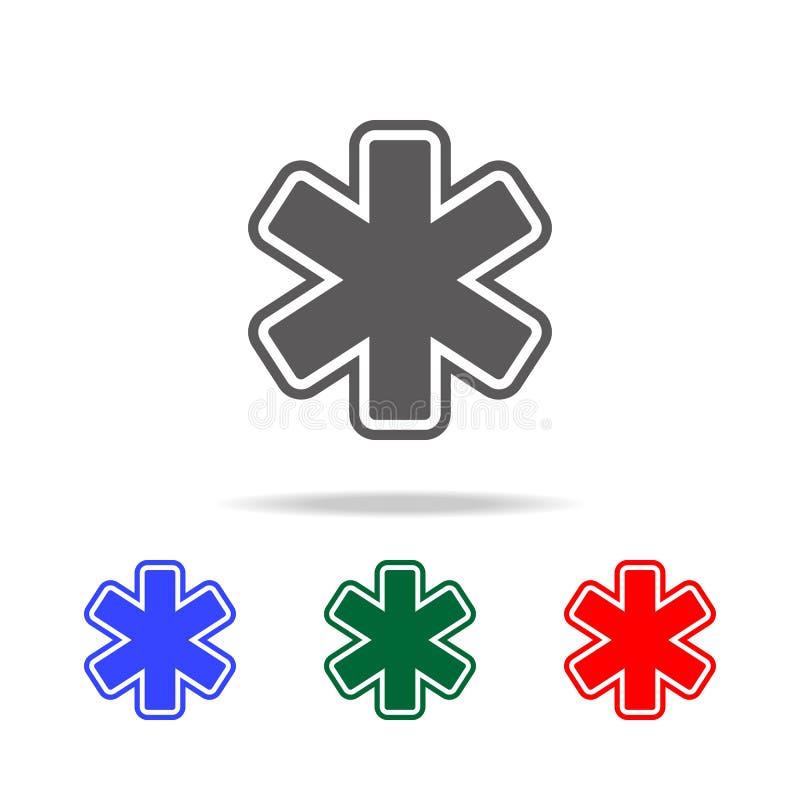 Krankenhaus-Schildikone Elemente von multi farbigen Ikonen Doktors Erstklassige Qualitätsgrafikdesignikone Einfache Ikone für Web lizenzfreie abbildung