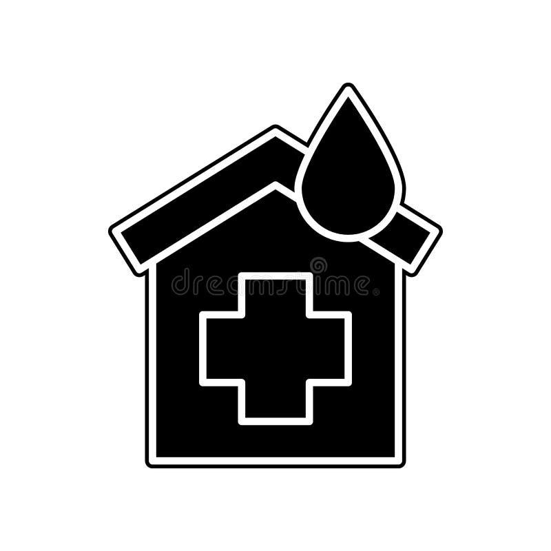 Krankenhausikone Element der Blutspende für bewegliches Konzept und Netz Appsikone Glyph, flache Ikone für Websiteentwurf und Ent stock abbildung