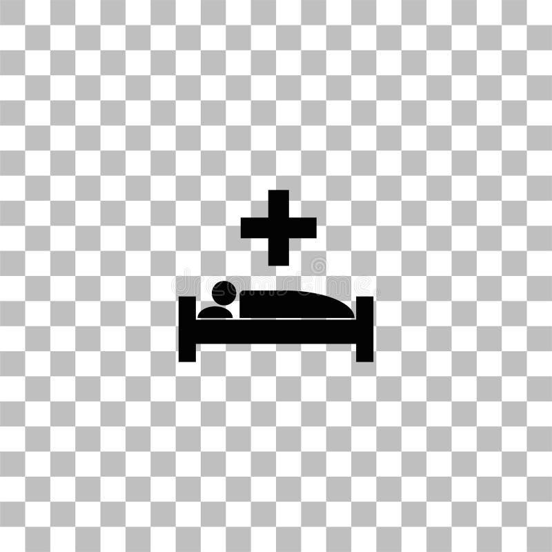 Krankenhausikone flach stock abbildung