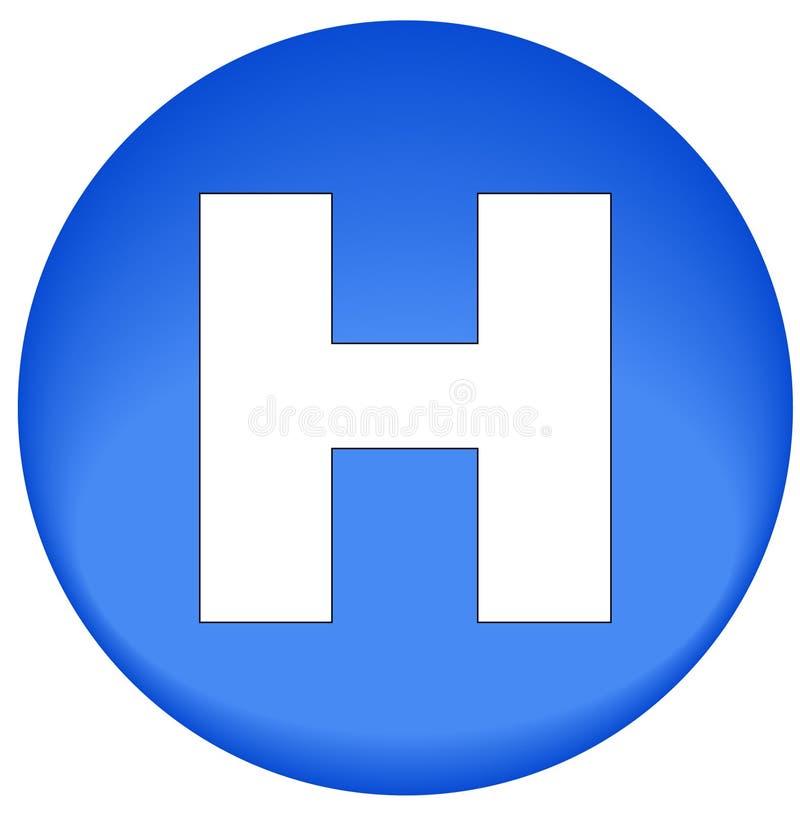 Krankenhausikone oder -taste lizenzfreie abbildung