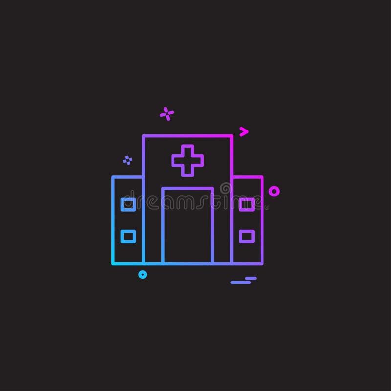 Krankenhausikonen-Designvektor vektor abbildung