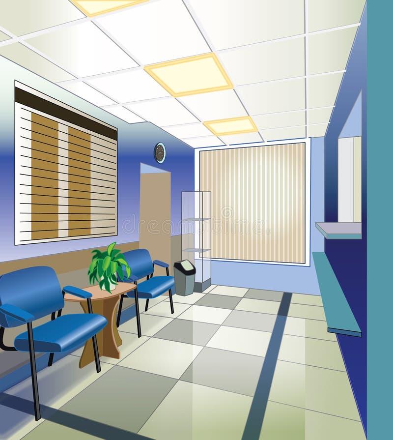 Krankenhausinnenraum vektor abbildung