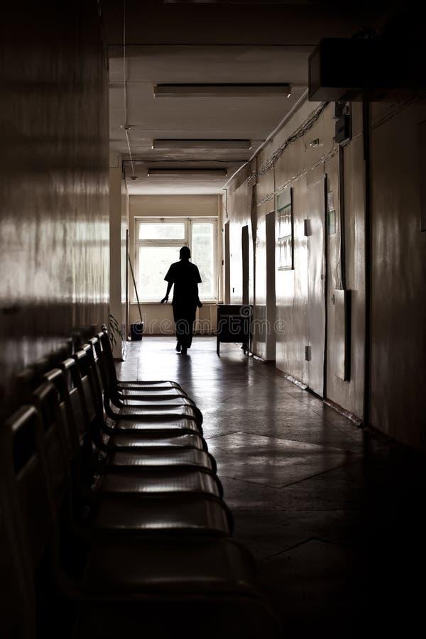 Krankenhauskorridor stockbilder