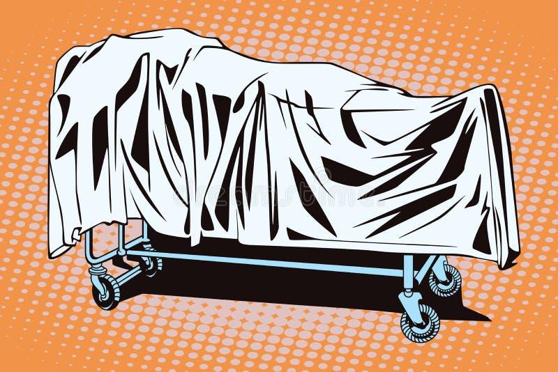 Krankenhauslaufkatze mit dem Körper vektor abbildung