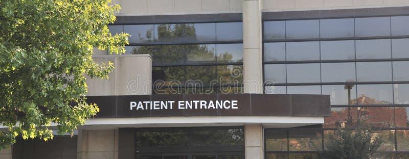 Krankenhauspatient-Eingangs-Zeichen lizenzfreie stockfotos