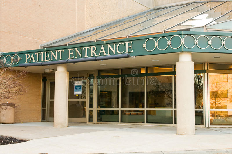 Krankenhauspatienteingang stockfotografie