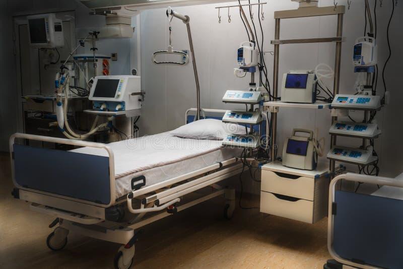 KrankenhausUnfallstationsintensivpflege moderne Ausrüstung, Konzept der gesunden Medizin, Behandlung, Behandlung des stationären  stockfotografie