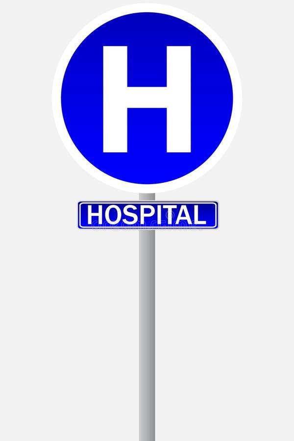 Krankenhauszeichen für Verkehr vektor abbildung
