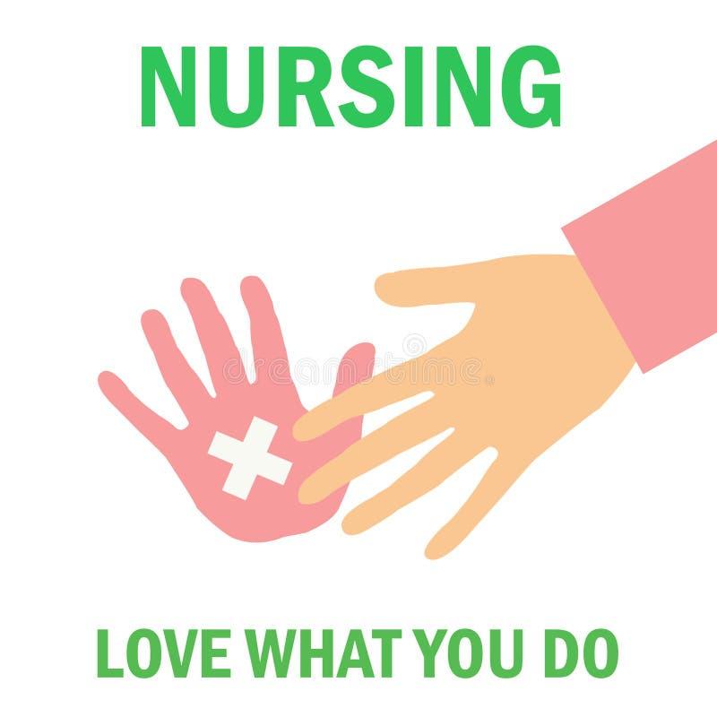 Krankenpflegeplakat lizenzfreie abbildung