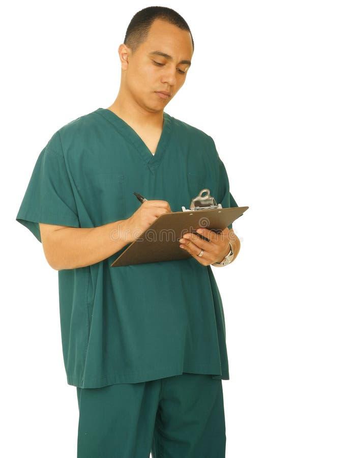 Krankenschwester-Denken lizenzfreies stockfoto