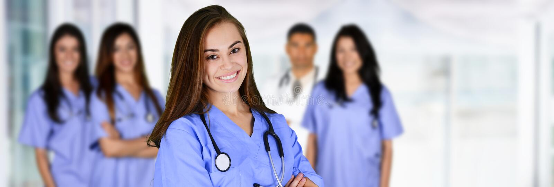 Krankenschwester im Krankenhaus stockfotografie