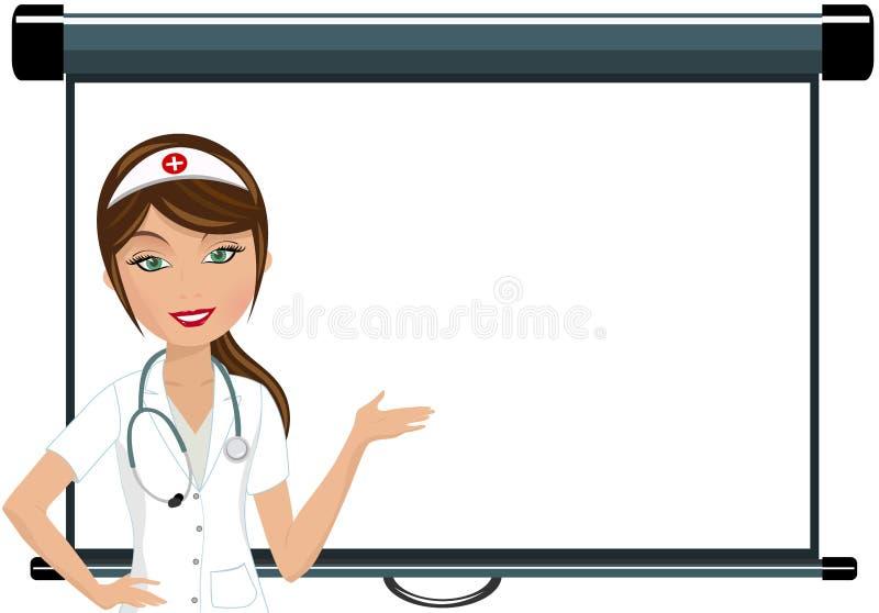 Krankenschwester Making Presentation stock abbildung