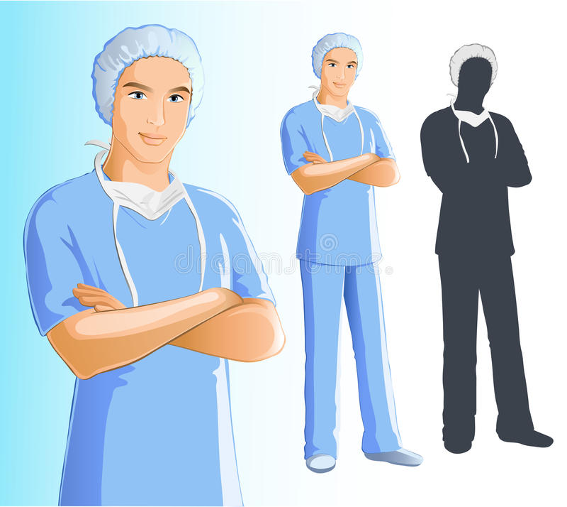 Krankenschwester (Mann) stock abbildung