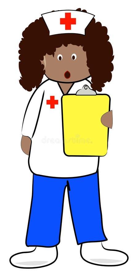 Krankenschwester mit schokierenden Nachrichten vektor abbildung