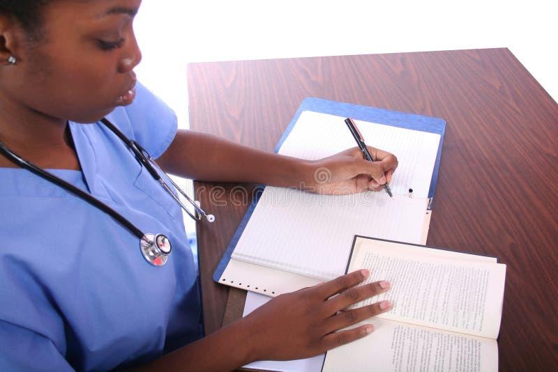 Krankenschwester oder Kursteilnehmer lizenzfreies stockfoto