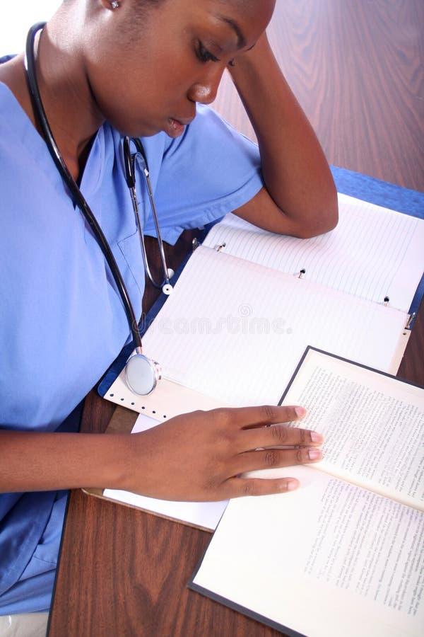 Krankenschwester oder Kursteilnehmer stockbilder