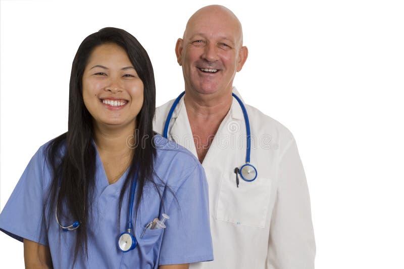 Krankenschwester und Doktor lizenzfreie stockbilder