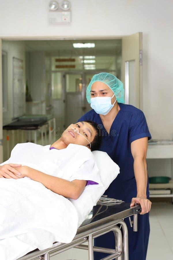 Krankenschwester und Patient stockfoto