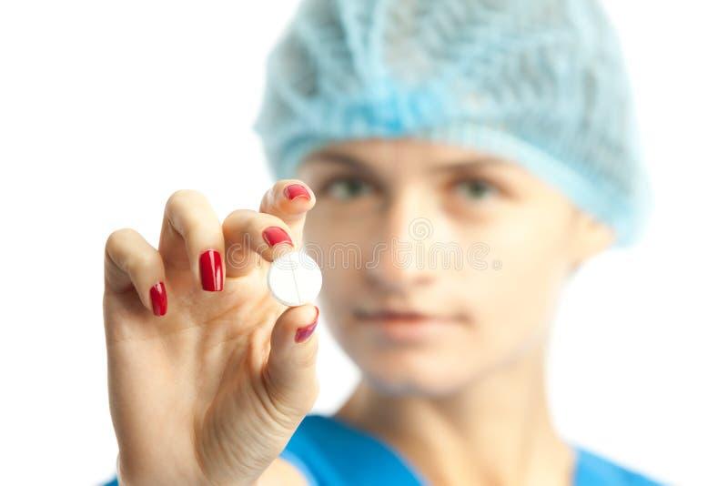 Krankenschwester und Pille stockfotografie