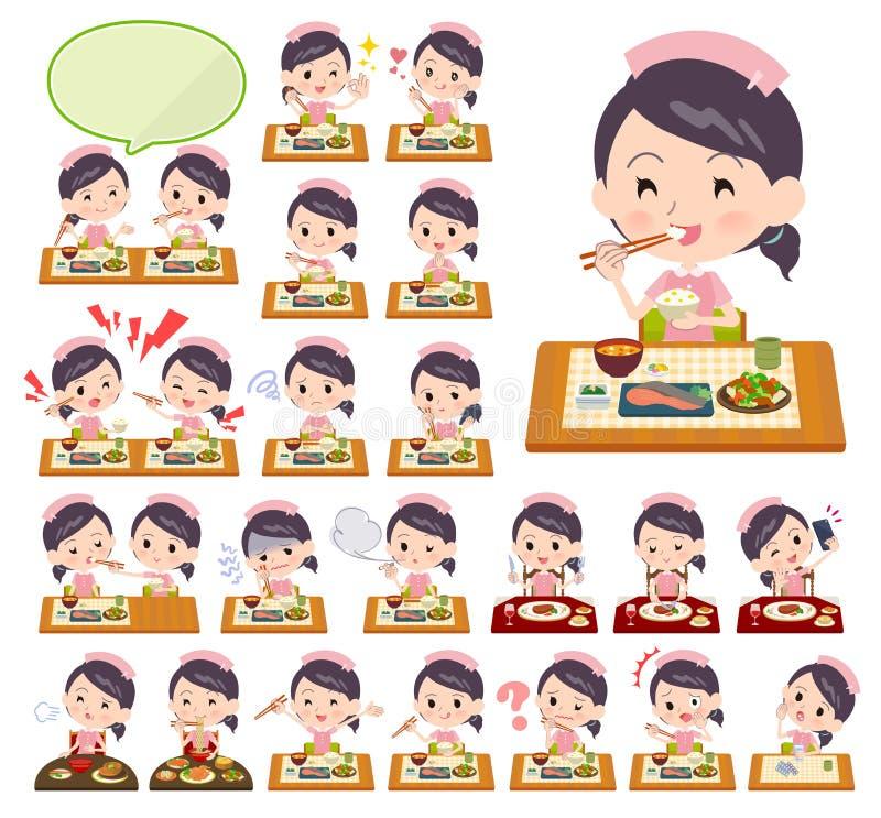 Krankenschwesterabnutzung women_Meal stock abbildung
