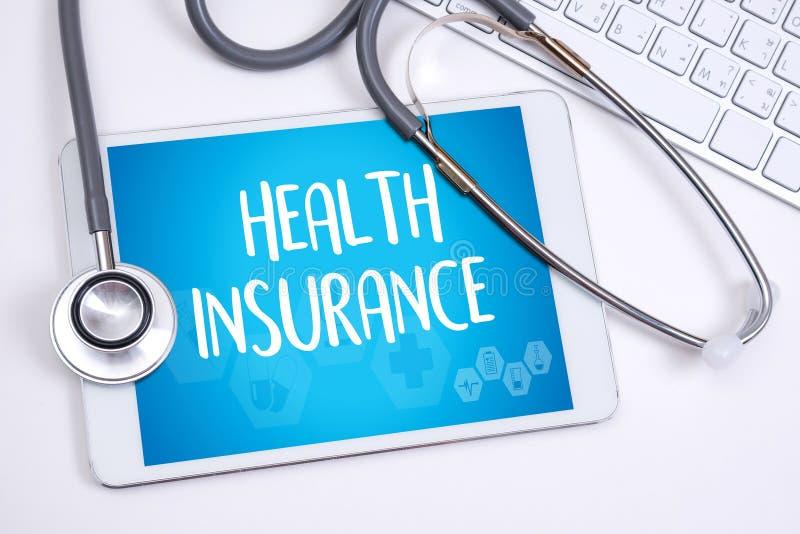 KRANKENVERSICHERUNG Versicherungs-Gesundheitsrisiko-Sicherheitsgesundheitswesenprof lizenzfreie stockbilder
