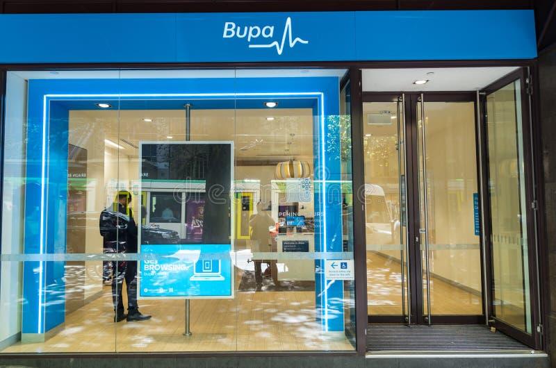 Krankenversicherungsbüro Bupa privates in Melbourne stockfoto
