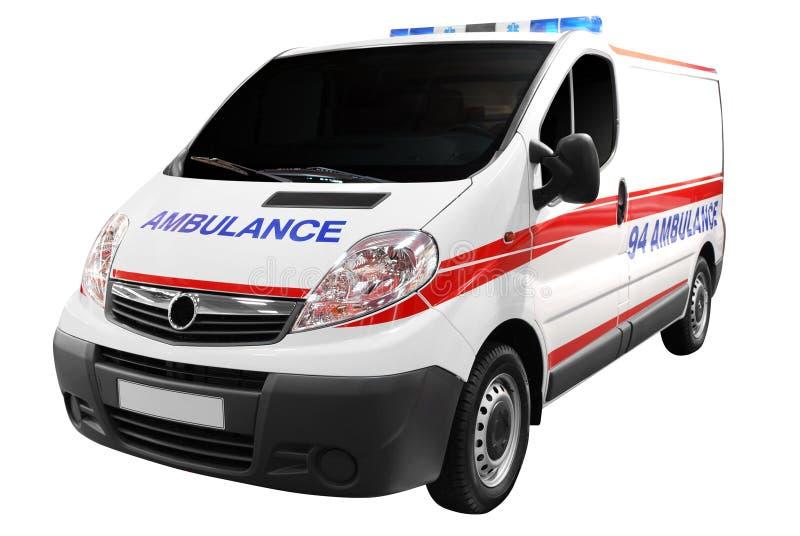 Krankenwagenauto getrennt lizenzfreie stockfotos