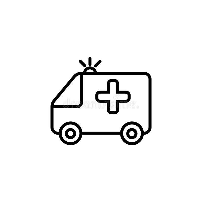 Krankenwagenikone Vektorillustrationssymbol stock abbildung