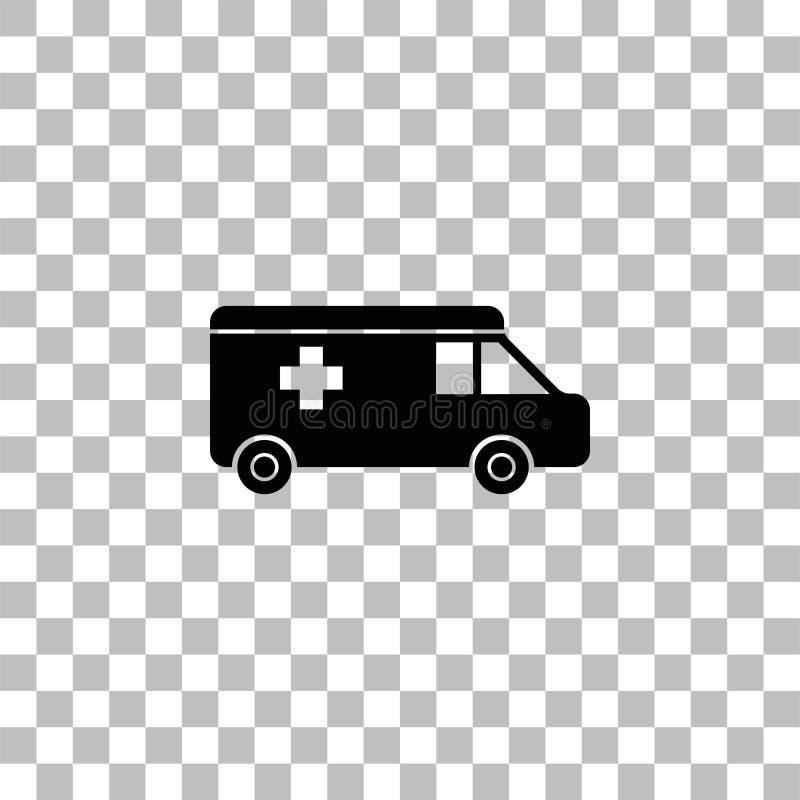 Krankenwagenikonenebene stock abbildung