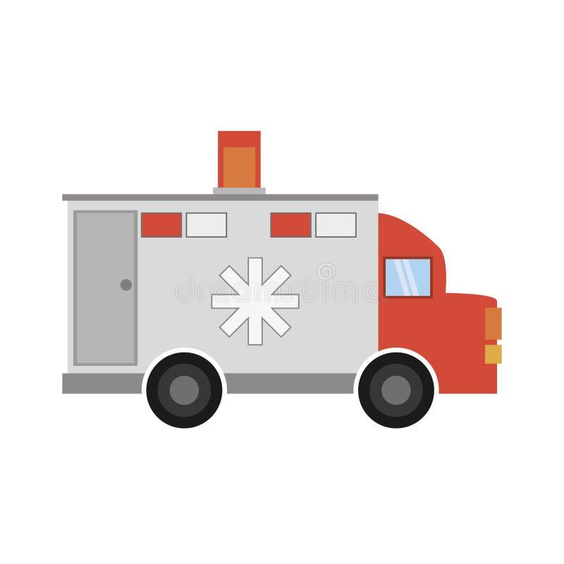 Krankenwagentransport-Notikone lizenzfreie abbildung